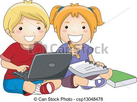 Estudio clipart Computador Utilizar estudio computador niños