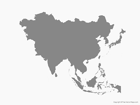 Continent clipart asia Maps & Region Free Maps