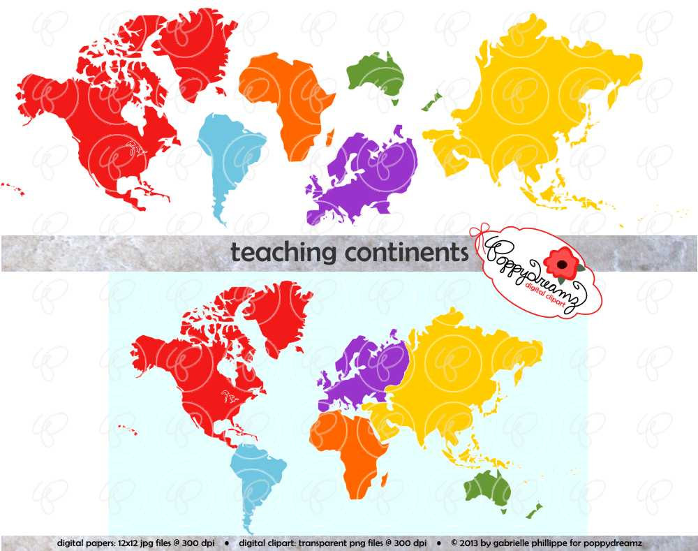 Continent clipart asia America America Clipart Continents South