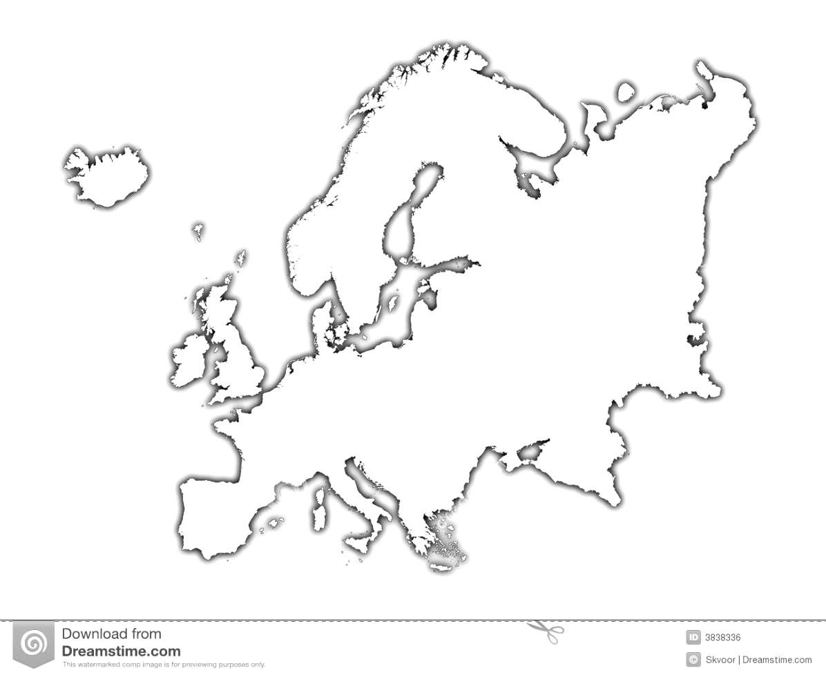Continent clipart printable World Maps Outline Phpd Europe