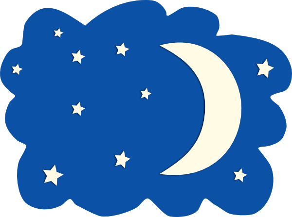 Evening clipart Free Clipart Moon Favorite ClipartFan