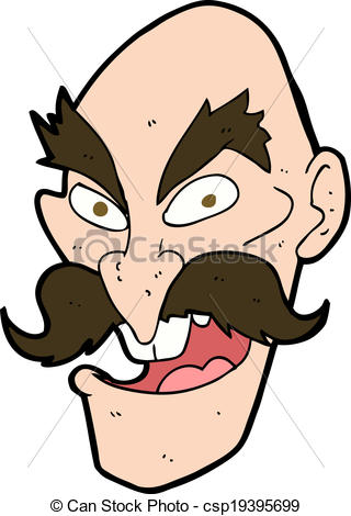 Evil clipart Evil Face Clipart Old face cartoon csp19395699 Vector