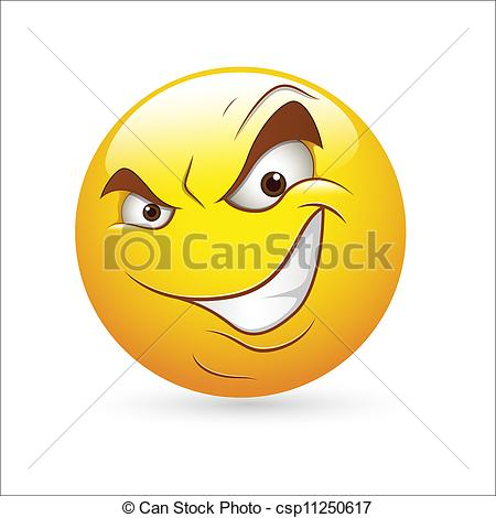 Evil clipart Evil Face Clipart Cunning  csp11250617 Cunning of