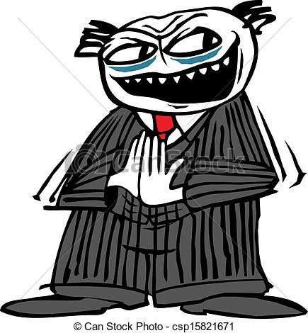 Evil clipart Evil Person Clipart Illustration rubbing an Cartoon Vectors
