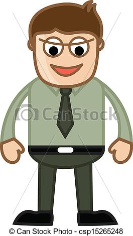 Evil clipart Evil Person Clipart EPS Cartoon Drawing Office csp15265248