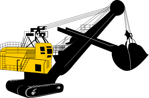 Excovator clipart Png html  excavator clipart