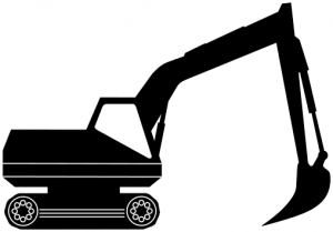 Excovator clipart Clip Art Download Silhouette Excavator