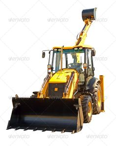 Excovator clipart sketch White build bucket bulldozer trademaster