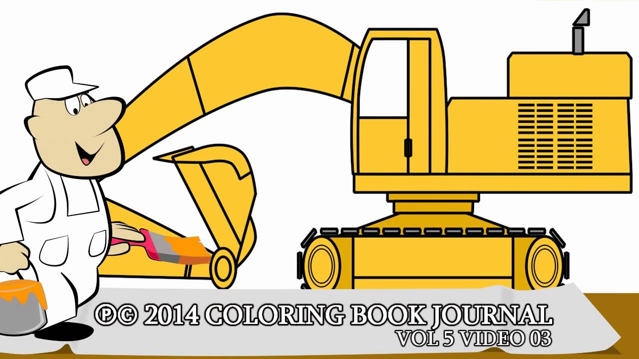 Excovator clipart sketch Children for Excavator Coloring YouTube