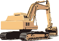 Excovator clipart sketch Construction Art Domain excavator realistic