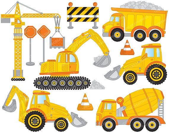 Excovator clipart construction project More Excavator be http://etsy can