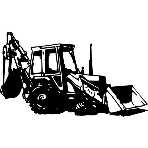 Excovator clipart sketch  backhoe Clipart Collection Backhoe