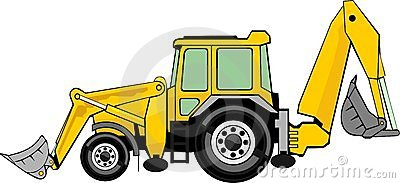 Excovator clipart digger #9