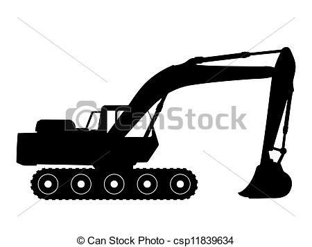 Excovator clipart digger Of a excavator silhouette excavator
