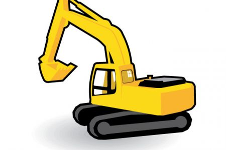 Excovator clipart digger #6