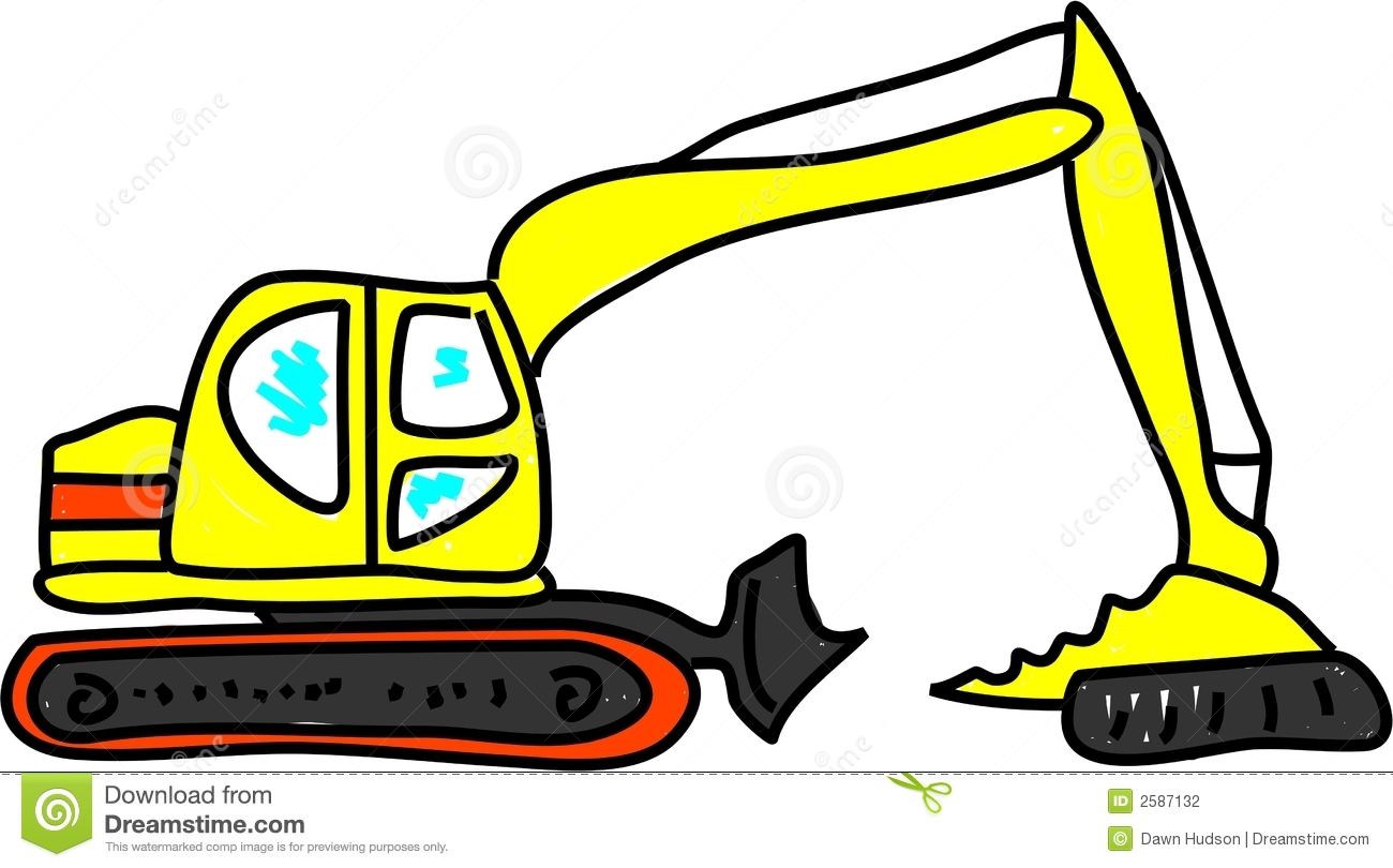 Excovator clipart digger Image: collection Stock clipart 2587132