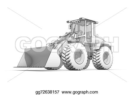 Excovator clipart sketch Of of illustration excavator and