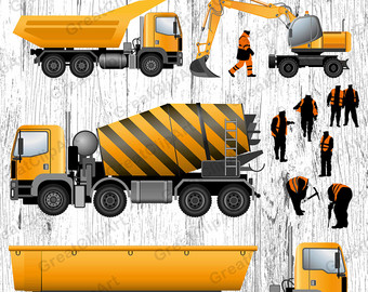 Excovator clipart truck Clipart Etsy Excavator grader clipart