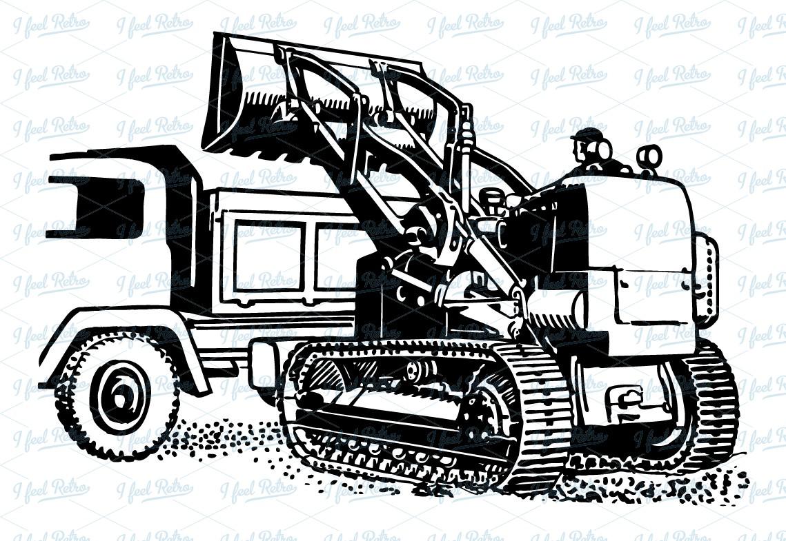 Excovator clipart truck Clipart:  Vintage European Retro