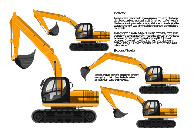 Excovator clipart truck Industrial elements Excavator Industrial