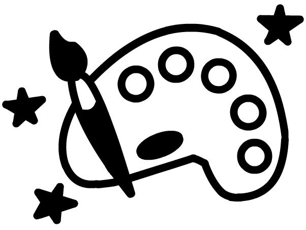 Artwork clipart black and white Clipart Clipart Panda Palette art%20palette%20clipart%20black%20and%20white