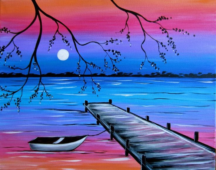 Drawn scenery canvas Painting best on Pinterest art