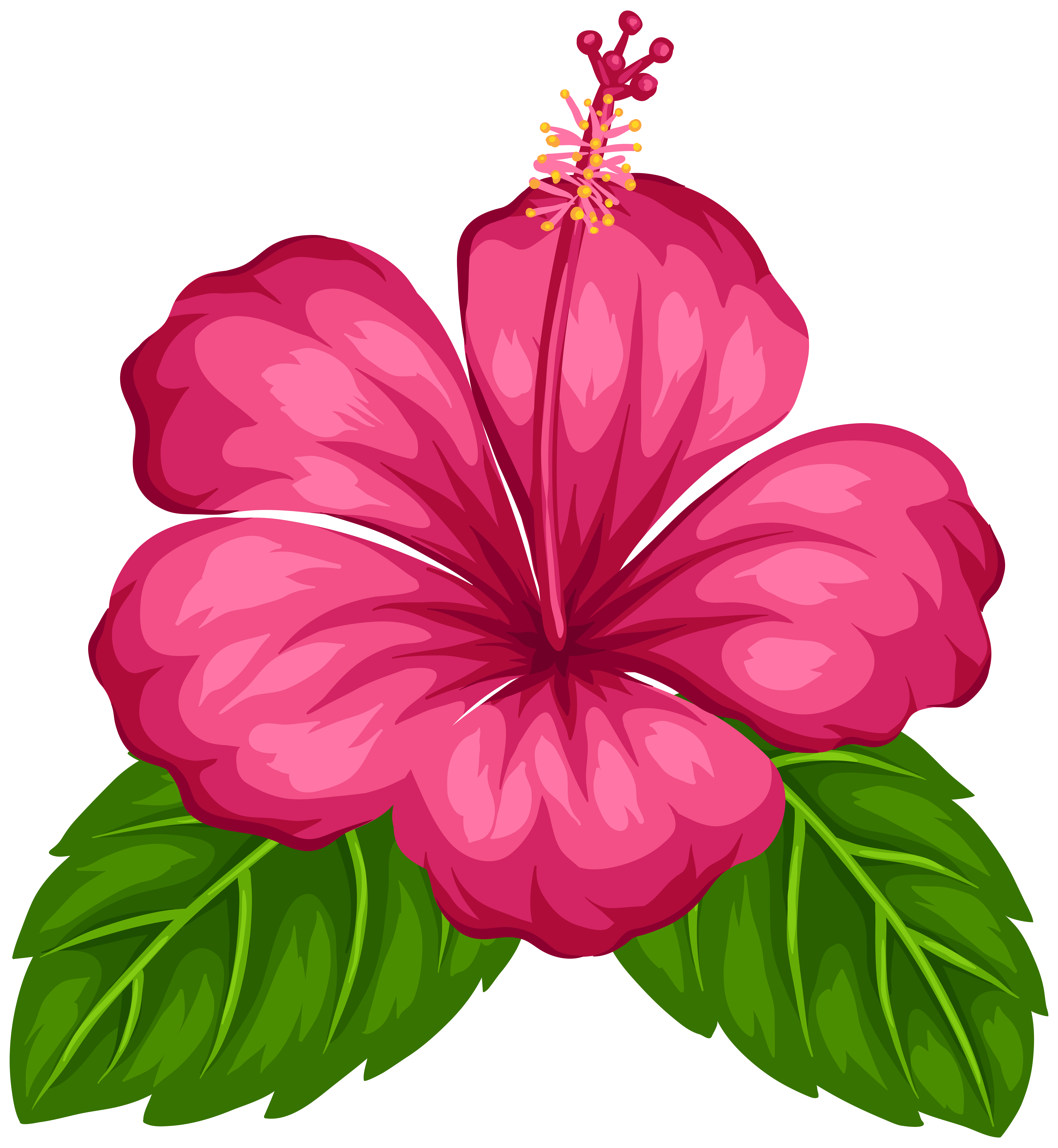 Red Flower clipart catoon #11