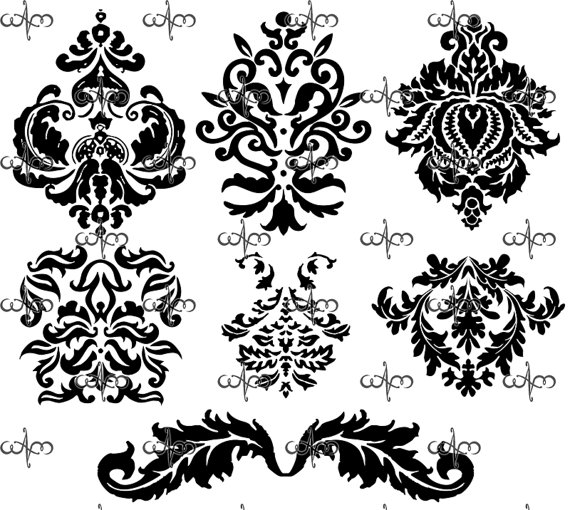 Damask clipart accent Pattern Graphic art Graphic art