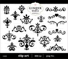 Damask clipart heart filigree Art Clip clip #13 Lines