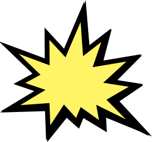 Yellow clipart explosion  Explosion online Explosion royalty