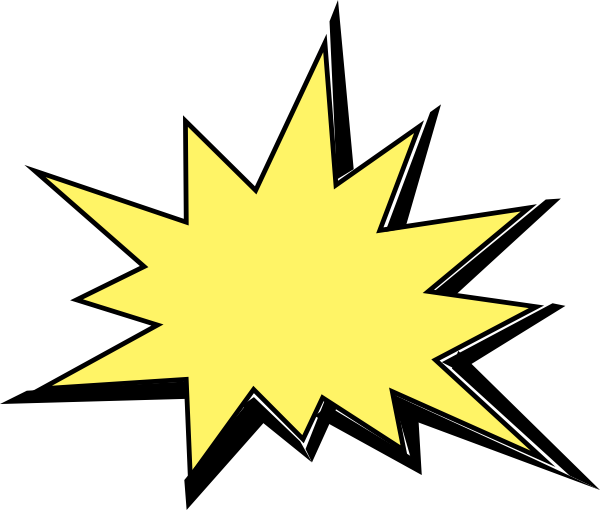 Yellow clipart explosion Animated kid explosion Cliparting explosion