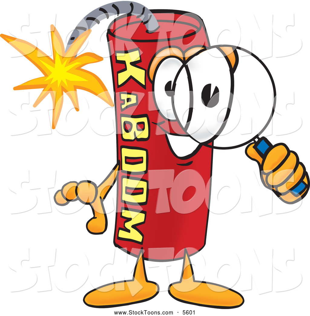 Explosions clipart 3d explosion Mascot Of Dynamite Glass Some