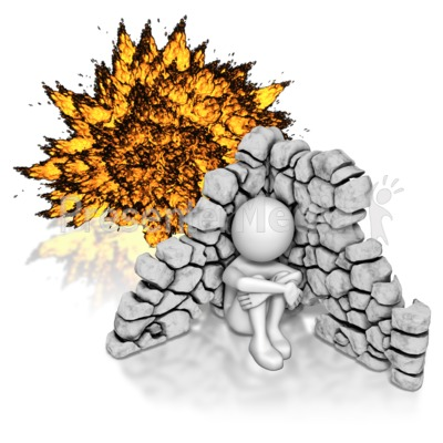 Explosions clipart animated Stick Hiding Explosion From Presentation