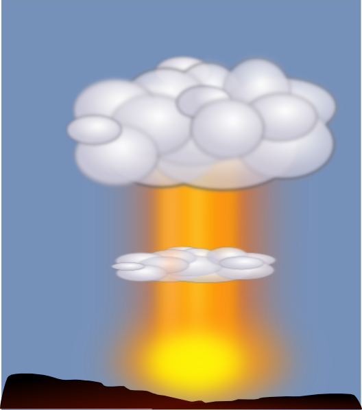 Explosions clipart animated Nuclear this  vector at
