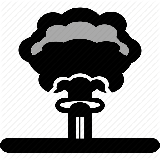 Radioactive clipart red Atom hiroshima atomic fire burn
