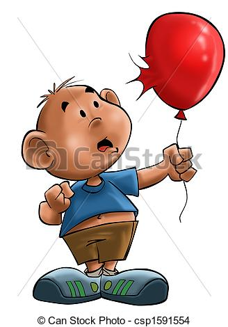 Explosions clipart balloon With Drawing Stock boy balloon