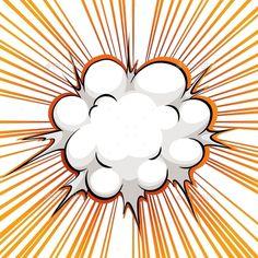 Explosions clipart balloon  Comic blast Balloon cartoon