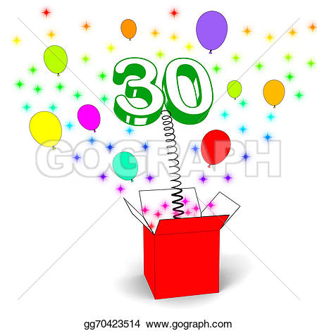 Explosions clipart balloon Clipart sparks box Stock gg70423514