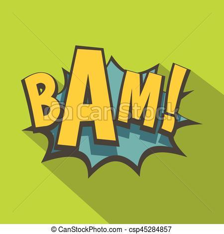 Explosions clipart bam Flat explosion book  BAM