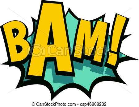 Explosions clipart bam Comic isolated book comic of