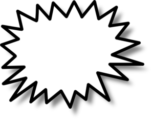 Explosions clipart black and white Explosion clipart Clipartix photos Free