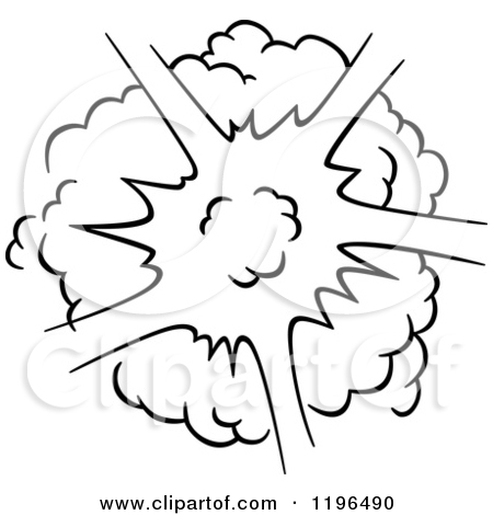 Explosions clipart black and white Poof Poof Clipart 121 Tiny