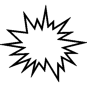 Explosions clipart black and white Com Cliparting Clip Explosion clip