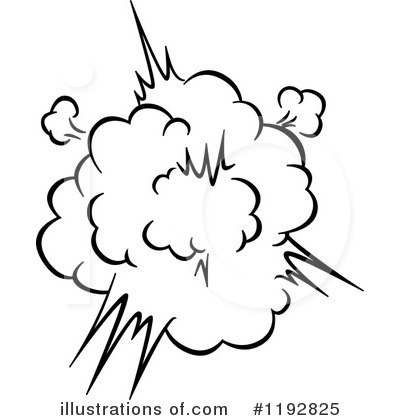 Explosions clipart black and white Images Free Clip Art Seamartini
