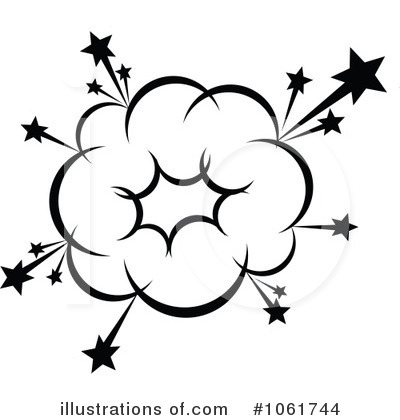 Explosions clipart black and white Free Free Panda Clipart Art