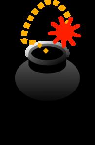 Explosions clipart bom Vector Clip com Cartoon Bomb