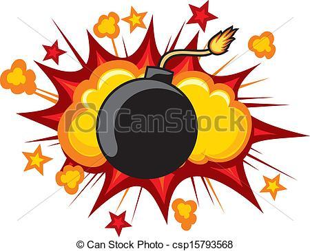 Yellow clipart bomb Bomb clip Starburst art outline