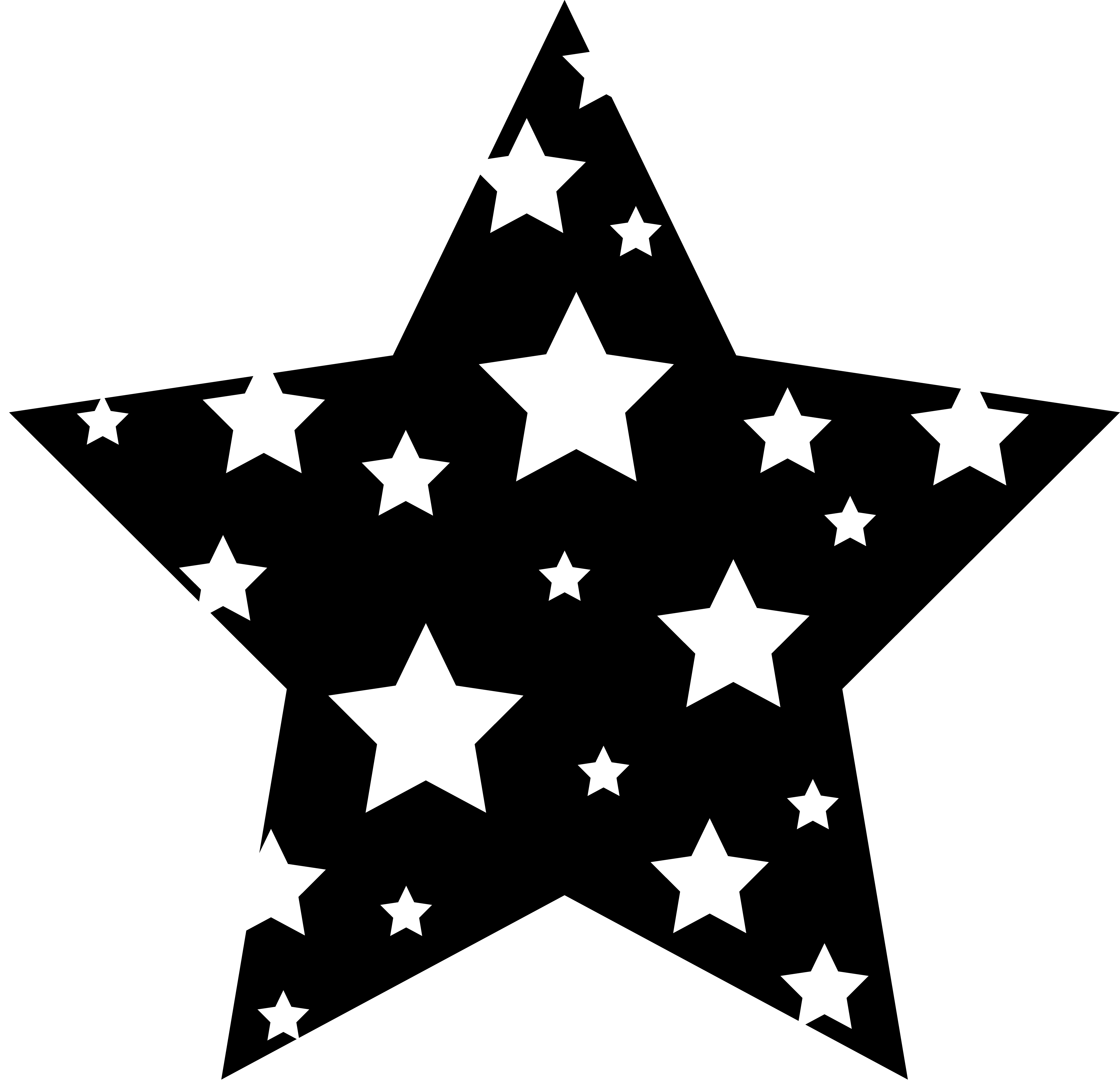 Explosions clipart border Free Black And Star