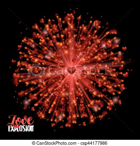 Explosions clipart border Red Vector Background Hearts Shimmer