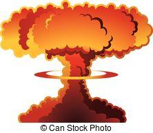 Explosions clipart cloud clipart Catastrophe weapon nuclear EPS clip